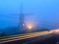Passing bye de Thornsche Molen Persingen at blue hour