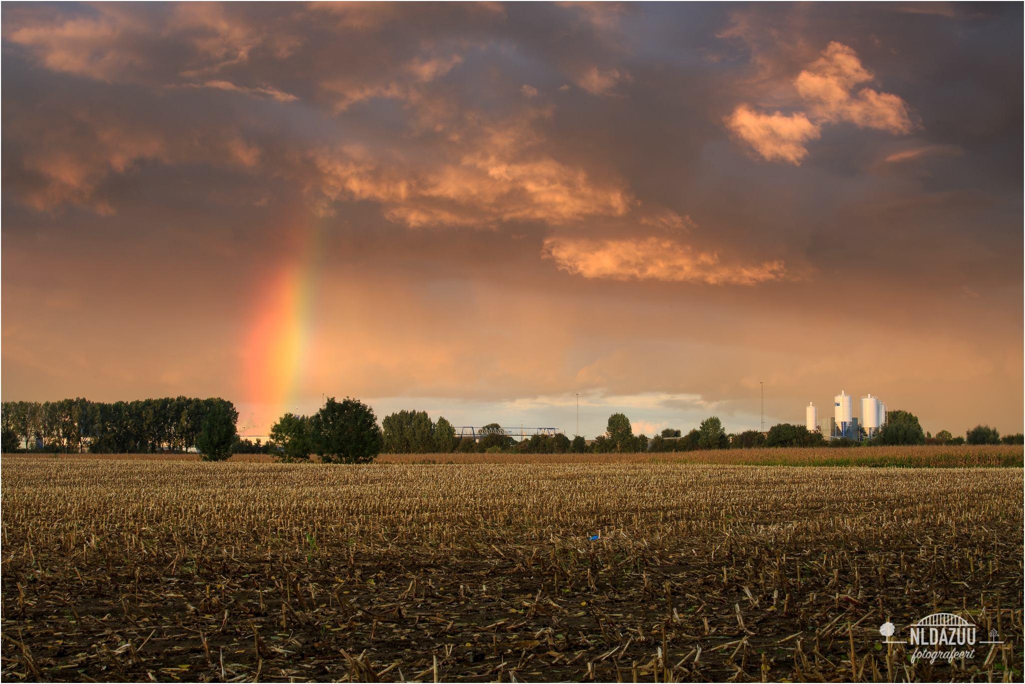 Kleurrijk Huissen herfstlandschap |  Canon 70-200 mm. f/4 L 70 mm. f/16 ISO100 1,0 sec.