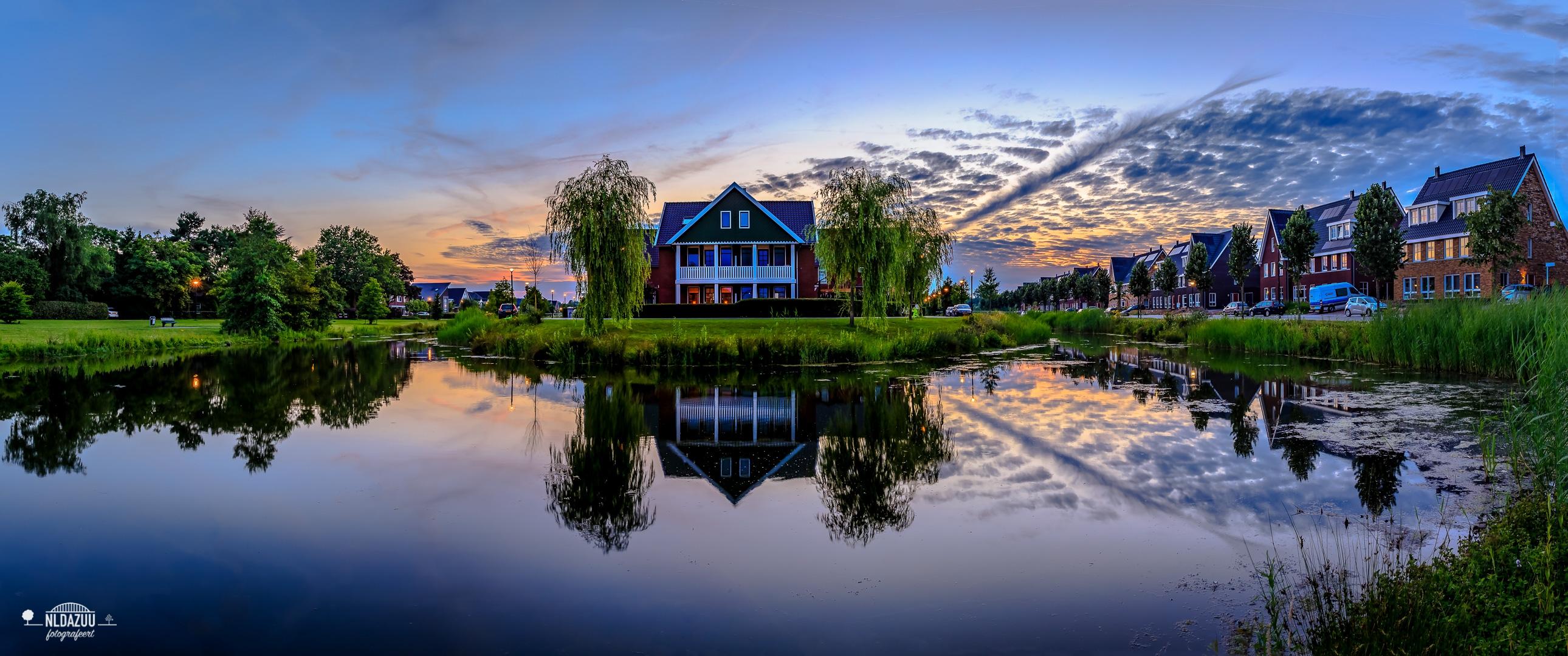 Huissen, Loovelden panorama Het Eiland