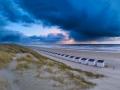 Panorama aan het Noordzeestand bij Paal 28