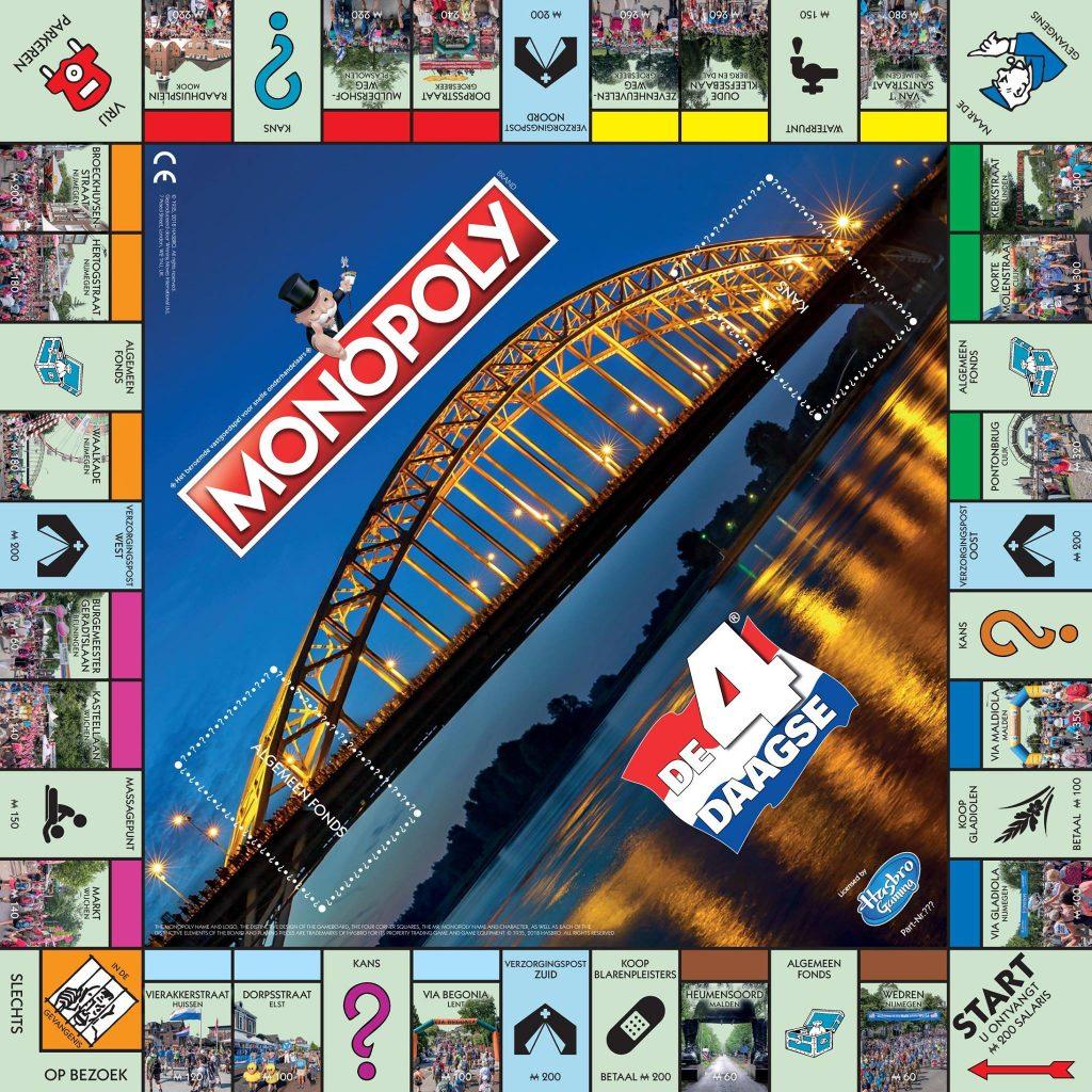 Monopoly 4Daagse stedenspel van de Nijmeegse 4daagse