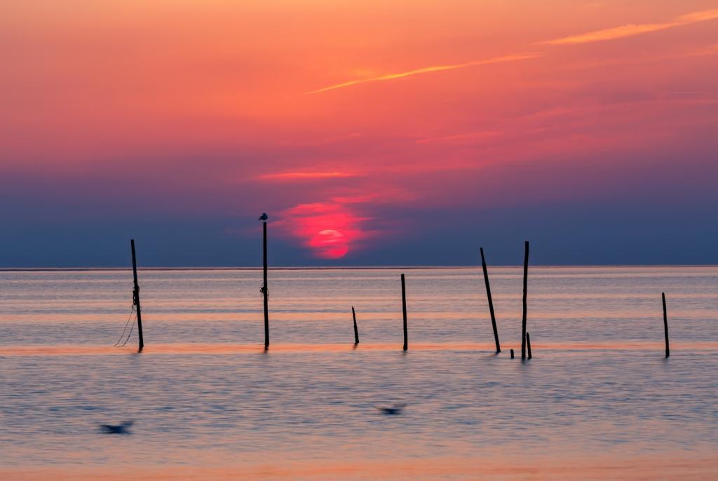 Sunset Rockanje aan Zee, seascaping, sunset, zonsondergang, zee, Noordzee