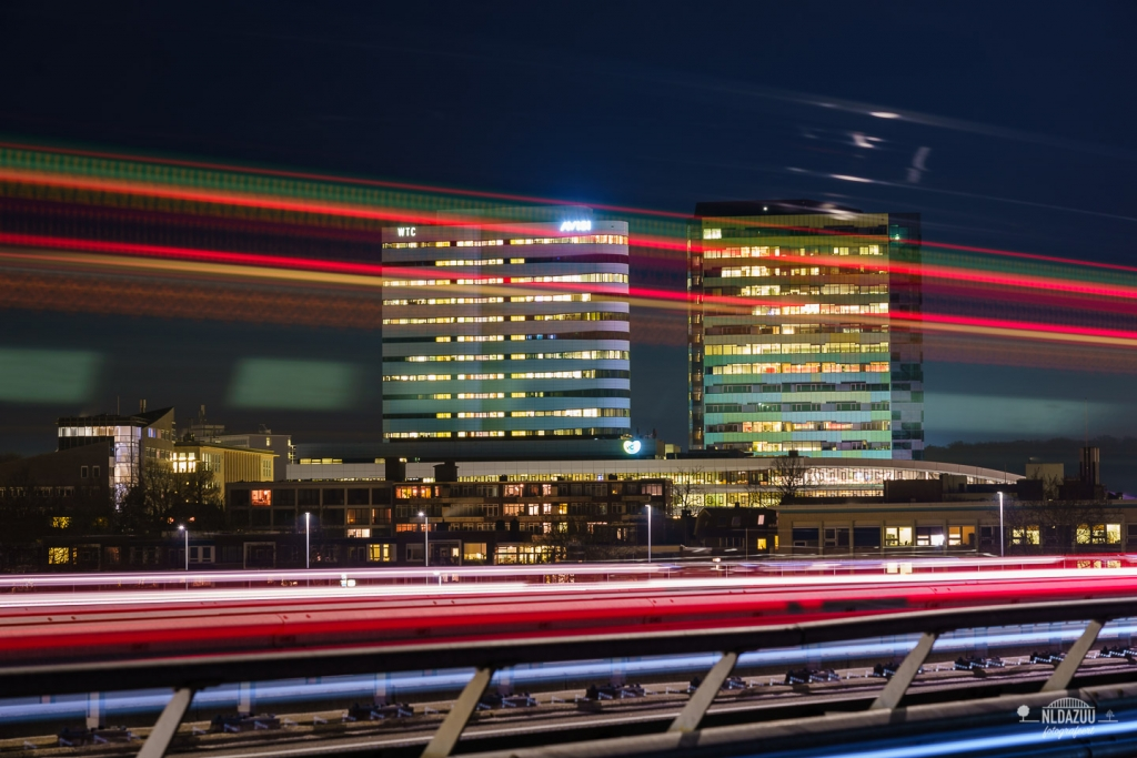Parktoren en Rijntoren Arnhem WTC avondfotografie
