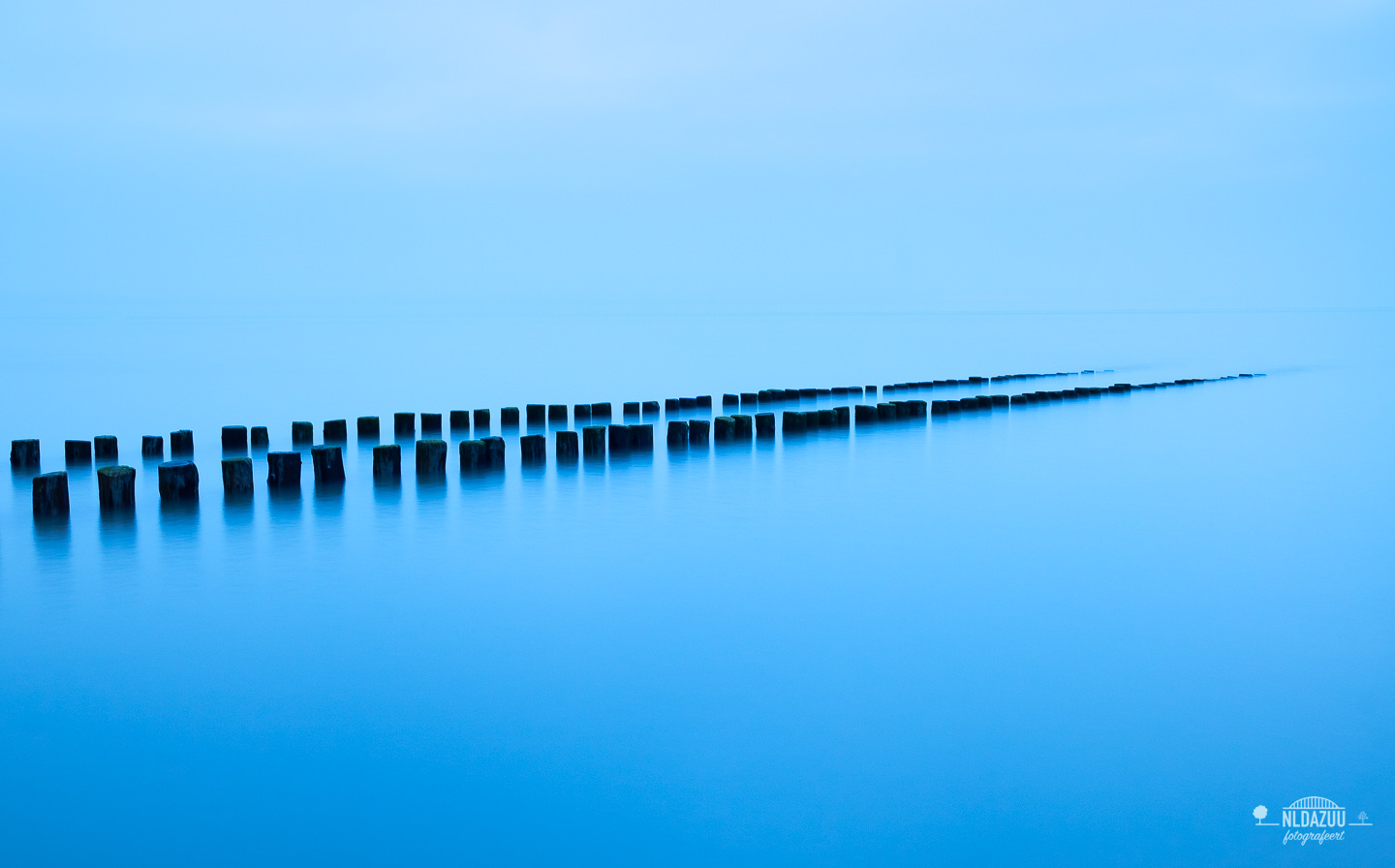 Long exposure, blue hour, zeeland, Noordzee