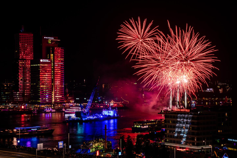 vuurwerk fotograferen tijdens de wereldhavendagen 2019