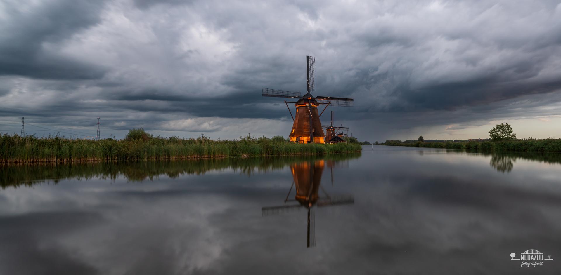 Panorama van Kinderdijk