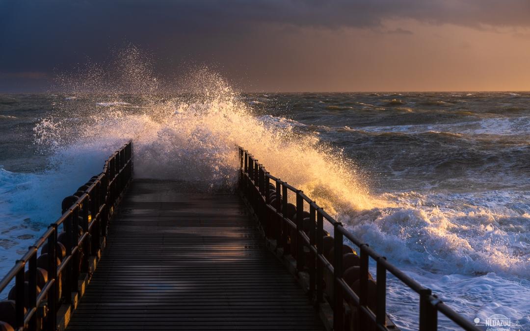 Fotograferen aan zee met storm