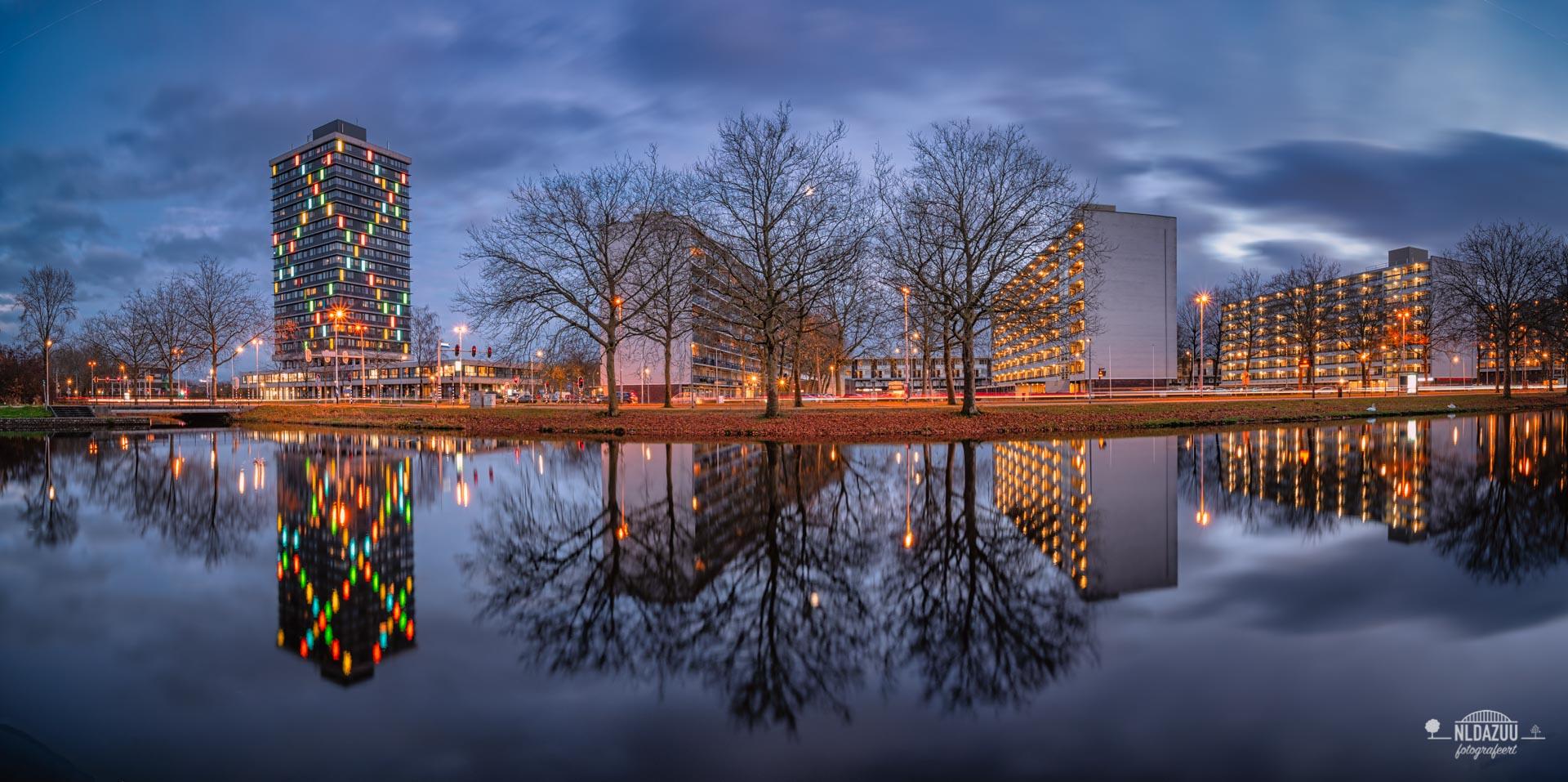 Het vroege blauwe uur in Arnhem is ook herfst fotograferen